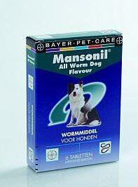 afbeelding Mansonil - Wormmiddel Tasty Dog