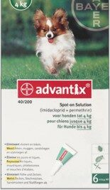 afbeelding Advantix - Hond 40 (0-4kg)
