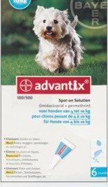 afbeelding Advantix - Hond 100 (4-10kg)