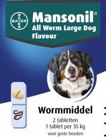 afbeelding Mansonil - Wormmiddel Grote Hond